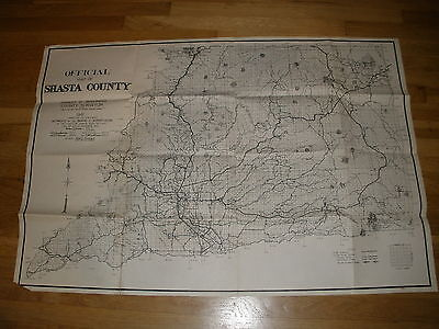 1949 county surveyor SHASTA COUNTY CA official MAP