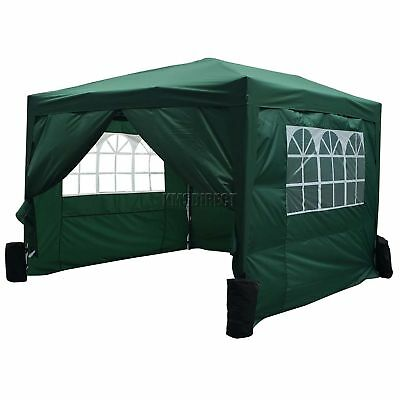FoxHunter Waterproof 3x3m Pop Up Gazebo Marquee Garden Awning Party Tent Green