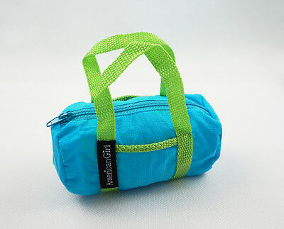 For 18'' American Girl Doll Accessory Luggage Bag Gift Blue & Green New #1