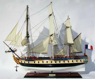"La Fayette Hermione Model Ship 37"" - Handmade Wooden Tall Ship Model"