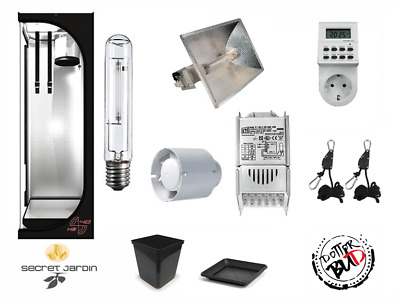 Kit Coltivazione Indoor Grow Box  Growbox Completa 40X40X120H 150Whps Agro 2100K
