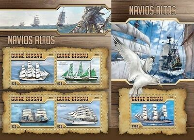 Z08 Imperforated gb16309ab GUINEA-BISSAU 2016 Tall ships MNH Set