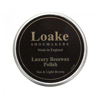 Loake Tan Brown Luxury Beeswax Polish Leather Shoes Boots Protection & Care