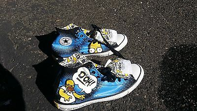 Chuck Taylor All Star Converse The Simpsons Homer Hi Top Sneakers Size 13 New