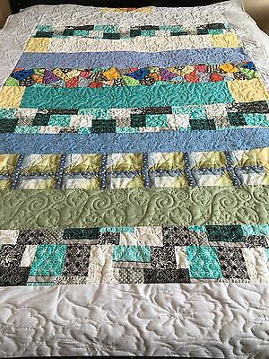 No Rhyme or Reason Pieced Handmade Twin Quilt