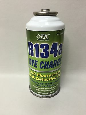 Genuine FJC R134A Fluorescent Dye Charge 3 oz. R134a and Leak Detector 4921
