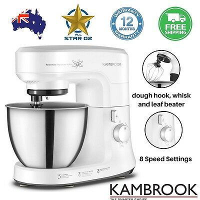 Kitchen Food Mixer Bench Top Cake Beater Dough Hook And Whisk Kambrook