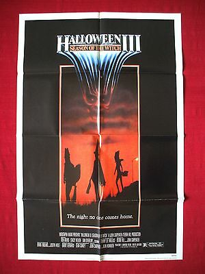 Halloween 3 Iii * 1982 Original Movie Poster Season Of The Witch Ultra Rare Nss