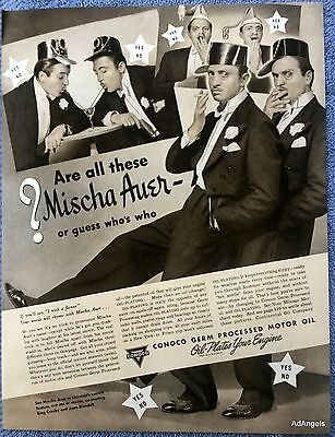 1939 Conoco Motor Oil Mischa Auer Are All Of These Or Guess Who's Who ad