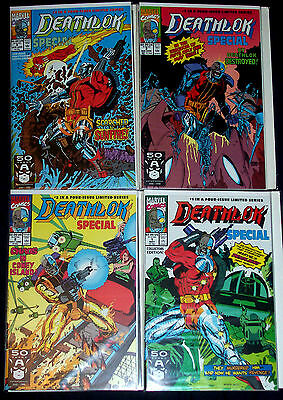 DEATHLOK SPECIAL #1-4 (NM-) Full Set! from Marvel's Agents of SHIELD! 1991