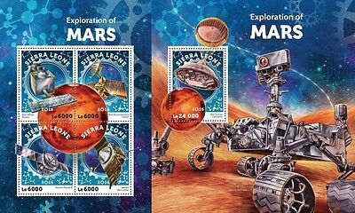 Z08 IMPERFORÉE SRL16420ab SIERRA LEONE 2016 Exploration of Mars MNH Jeu