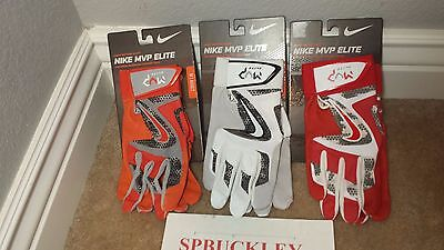 Nike Mvp Elite Textured Sheepskin Leather Adult Baseball Batting Gloves, Gb0401