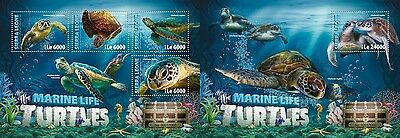 Z08 Imperforée SRL16303ab SIERRA LEONE 2016 Turtles MNH Jeu