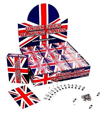 Union Jack Plastic Coated Playing Cards Free Same Day Fast Post !!!!