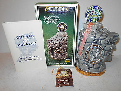 Ezra Brooks New Hampshire Decanter - Old Man Of The Mountain