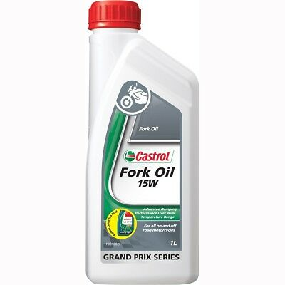 NEW Castrol MX 1L Motorbike Motorcycle Dirt Bike 1 Litre 15W Fork Oil