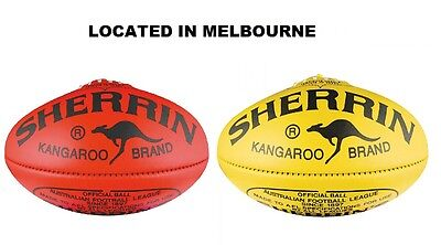 Sherrin Kb Kangaroo Brand Official Game Match Football Size 5 Red And Yellow