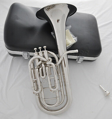 Professional Silver Nickel Plated JINBAO Gold Bb baritone horn with case