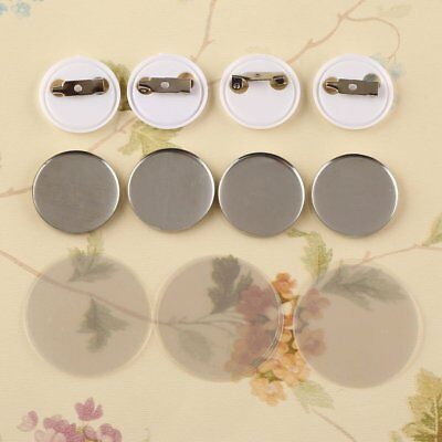 "1"" 25mm 100Sets Pin Badge Button Parts Supplies for Pro Maker Machine"