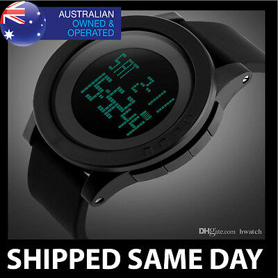 WATERPROOF DIGITAL SKMEI SPORTS MILITARY WATCH Army Mens Water Resistant Gold D2