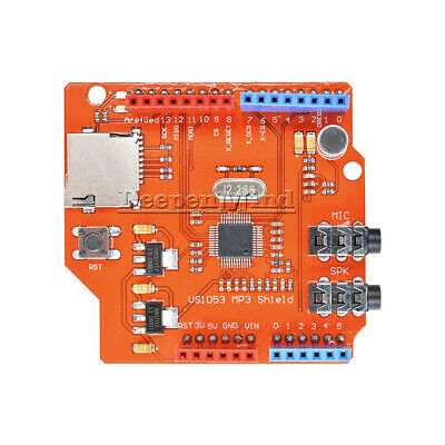 VS1053B MP3 Music shield board Module with TF card slot For Arduino UNO R3 Top