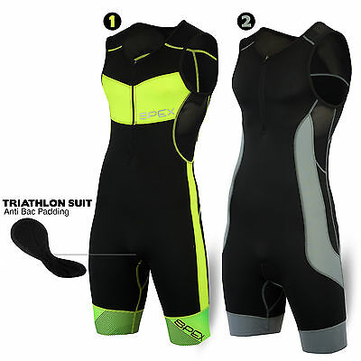 Mens Triathlon Tri Suit Padded Compression Running Swimming Wet Yoga Cycling