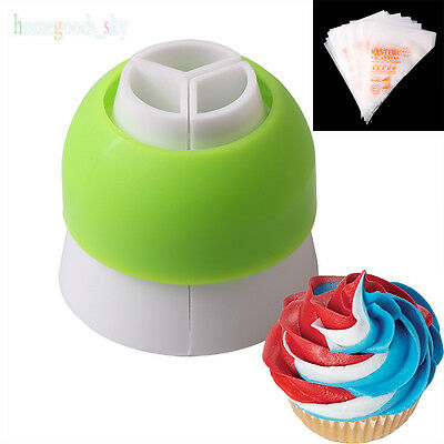 3-Color Icing Piping Nozzle Converters Cream Bag Coupler Cake Decorating Tools