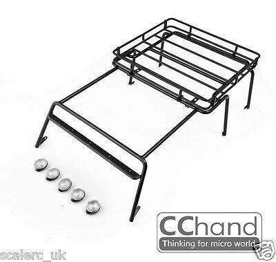 1/10 Rack Luggage Metal Roll Cage for CChand AXIAL SCX10 90027/90035 JK Full set