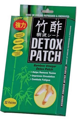 Bamboo Vinegar Foot Detox Detoxifiying  Patches- 32 Pack Brand new