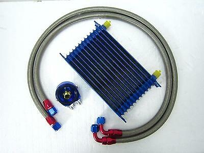 New Universal Engine Transmission Oil Cooler AN10 13 Row Filter Adapter Kit