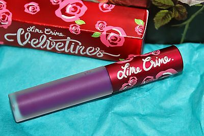 New Lime Crime Liquid Lipstick In Box - Pansy