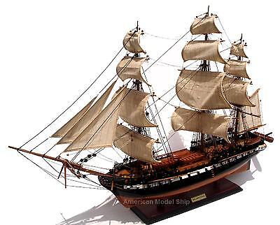 "USS Constitution Ship Model by master craftsmen 35"" - Built Wooden Model"