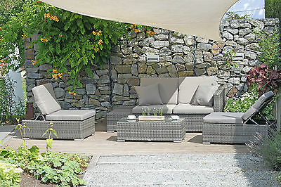 polyrattan loungeset gartenm bel loungegruppe terrasse grau reya l eur picclick de. Black Bedroom Furniture Sets. Home Design Ideas