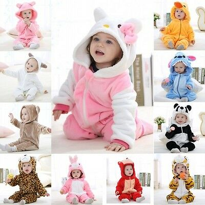 Girls Boys Newborn Baby Cute Animal Modelling Romper Jumpsuit Bodysuit Outfits