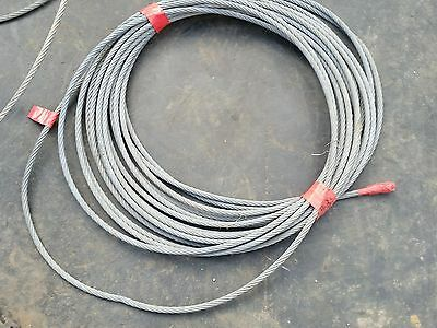 winch cable, guy wire for wind turbine, heavy duty 8mm high tensile, other uses.
