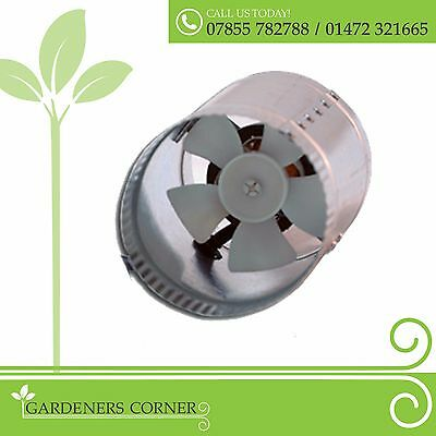 "4"" Inline Duct Booster Fan Exhaust Blower for Home Grow Tent Room"