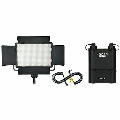 Godox LED Video 500 White Version Light 4500mAH Battery with LX Power Cable Kit