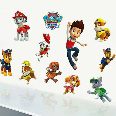 PAW PATROL ALL 11 STICKERS Kids Boy Girls Bedroom Decal Wall Art Gift Window NEW