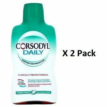 Corsodyl Daily Fresh Mint Alcohol Free Mouthwash 500ml x 2 Pack