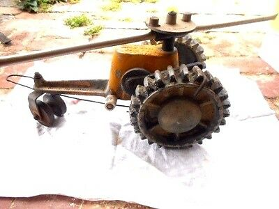 Vintage CHAMPION TRACTOR SPRINKLER old cast iron travelling walking Australiana
