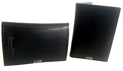 2 x Credit Card, Travel Pass, Oyster ID Holder Genuine Soft (Cow) Leather Black