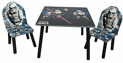 Disney Star Wars Kids Table And Chairs Children Playroom Bedroom Furniture Set