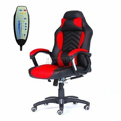 FoxHunter Luxury 6 Point Massage Office Computer Chair Reclining MC09 Red New