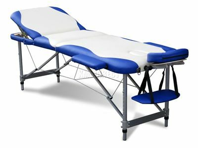 3 Section Lightweight Portable Folding Massage Table Luxury Beauty Couch Bed WB