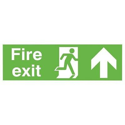 Signs and Labels Safety Sign Fire Exit Running Man Arrow Up PVC FX04711R
