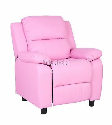 FoxHunter Kids Recliner Armchair Games Chair Sofa Seat PU Leather KSP03 Pink New