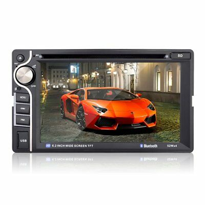 """6.2"""" Touchscreen In-dash Double Din Car DVD Player Stereo Bluetooth CD MP3 FM"""
