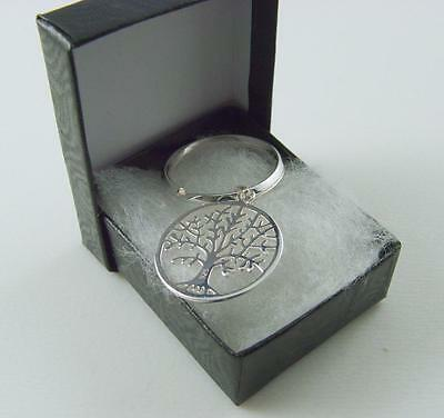 925 Sterling Silver TREE OF LIFE Key Ring  and Gift Box