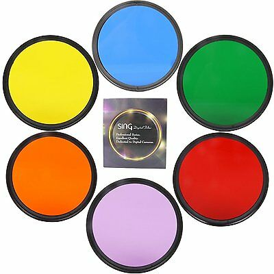 Accessory Complete Full Color Special Filter For Digital Camera Lens 6 color