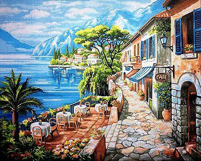"""Gobelin Tapestry Needlepoint Kit """"Landscape"""" hand embroidery printed canvas 514"""